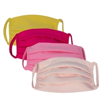 Washable Jersey Cotton Pastel Color Face Covering with Bias (Earloop) - in 4 Colors (Pack of 6)