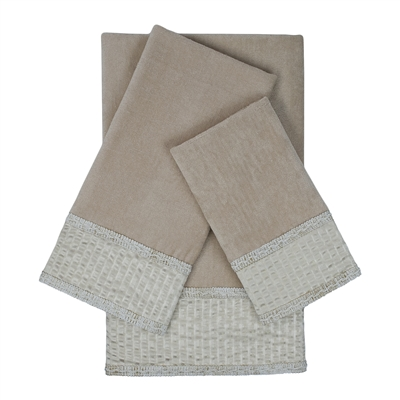 Sherry Kline Rainer 3-piece Embellished Towel Set