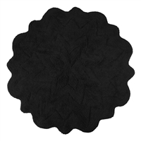 Sherry Kline Tufted Petals Black 32-inch Bath Rug
