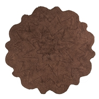 Sherry Kline Tufted Petals Brown 32-inch Bath Rug