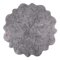 Sherry Kline Tufted Petals Grey 32-inch Bath Rug