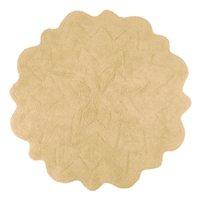 Sherry Kline Tufted Petals Taupe 32-inch Bath Rug