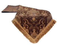 Sherry Kline China Art Brown Table Runner