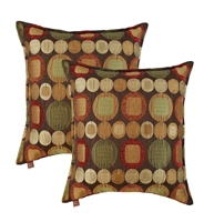 Sherry Kline Metro Spice 18-inch Decorative Pillow (Set of 2)