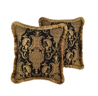 Sherry Kline China Art Black 20-inch Decorative Throw Pillows (Set of 2)
