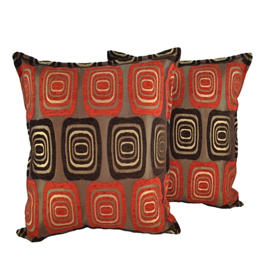 Sherry Kline Retro Red 20-inch Decorative Pillows (Set of 2)