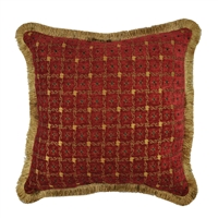 Sherry Kline Chenille Dots Luxury 20-inch Decorative Throw Pillow
