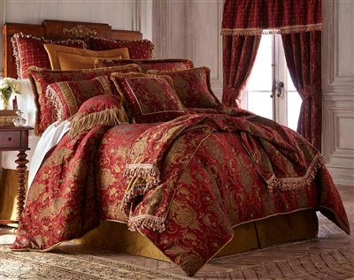 Sherry Kline China Art Red 3-piece Luxury Duvet Set
