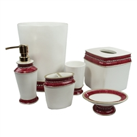Sherry Kline Victoria Jewel 6-piece Bath Accessory Set (4 Colors)