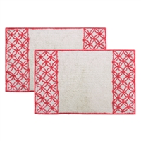 Sherry Kline Romance Cotton 21 x 34 Bath Rug (Set of 2)