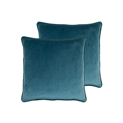 Sherry Kline Richmond Velvet Medium Blue 20-inch Pillow (set of 2)