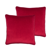 Sherry Kline Richmond Velvet Red 20-inch Pillow (set of 2)