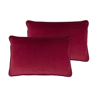 Sherry Kline Richmond Velvet Red Boudoir Pillow (set of 2)