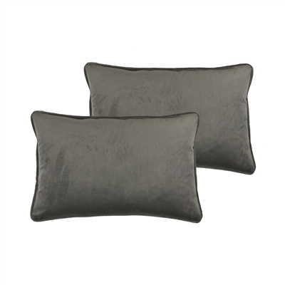 Sherry Kline Richmond Velvet Medium Gray Boudoir Pillow (set of 2)