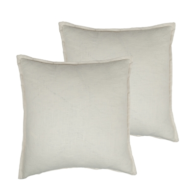 Sherry Kline Lombard Linen Off-white Reversible 20-inch Decorative pillow (set of 2)