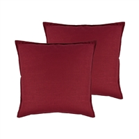 Sherry Kline Lombard Linen Red Reversible 20-inch Decorative pillow (set of 2)