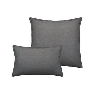 Sherry Kline Lombard Linen Grey Reversible Combo Pillow