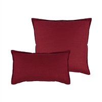 Sherry Kline Lombard Linen Red Reversible Combo Pillow