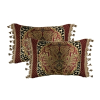 Sherry Kline Tangiers Boudoir Pieced Decorative Pillow (Set of 2)