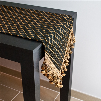 Sherry Kline Arcadia Black Table Runner