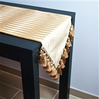 Sherry Kline Golden Gate Gold Table Runner