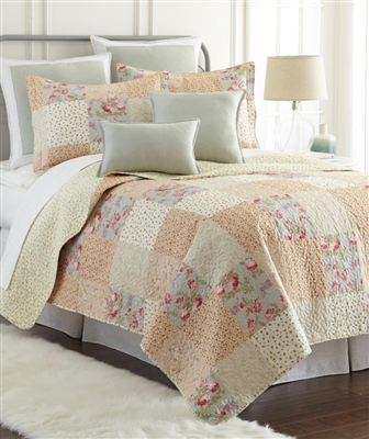 Sherry Kline Riverside 3-piece Reversible Cotton Quilt Set