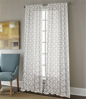 Sherry Kline Burlingame Taupe 96-inch Embroidered Sheer Panel (Pair)