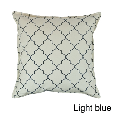 Sherry Kline Westbury Light Blue Embroidered 20 inch Decorative Pillow