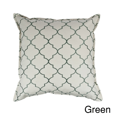 Sherry Kline Westbury Green Embroidered 20 inch Decorative Pillow