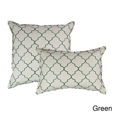 Sherry Kline Westbury Green Embroidered Combo Decorative Pillow