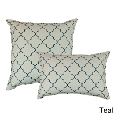 Sherry Kline Westbury Teal Embroidered Combo Decorative Pillow