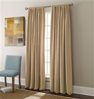 Sherry Kline Elite Velvet 84-inch Beige Window Panel (Pair)