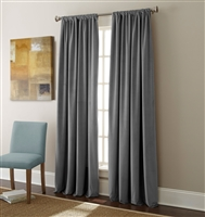 Sherry Kline Elite Velvet 84-inch Dark Grey Window Panel (Pair)