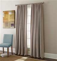 Sherry Kline Elite Velvet 84-inch Silver Grey Window Panel (Pair)