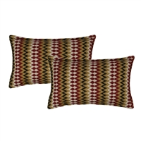 Sherry Kline Springlake Red Boudoir Decorative Pillow (set of 2)