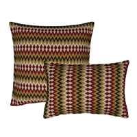 Sherry Kline Springlake Red Combo Decorative Pillow