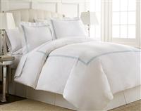 Austin Horn En'Vogue Charlotte Blue Embroidered Duvet Cover Set