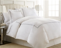 Austin Horn En'Vogue Charlotte Grey Embroidered Duvet Cover Set