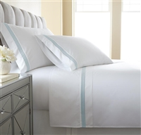 Austin Horn En'Vogue Charlotte Blue Embroidered Sheets Set