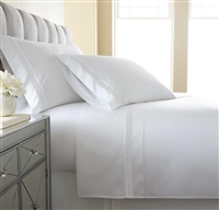 Austin Horn En'Vogue Charlotte White Embroidered Sheets Set