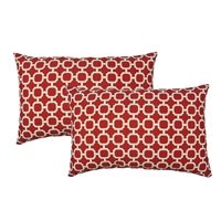 Sherry Kline Hockley Red Outdoor Boudoir Pillow (Set of 2)