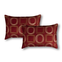 Sherry Kline Synergy Red Boudoir Decorative Pillows (Set of 2)
