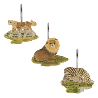Sherry Kline Safari Shower Curtain Hooks (Set of 12)
