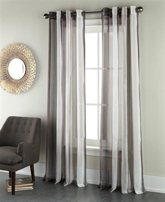 Sherry Kline Ambiance Ebony 96-inch Printed Sheer Panel (Pair)
