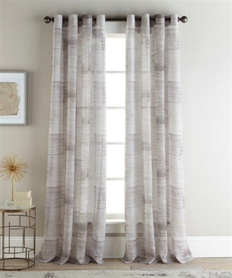 Sherry Kline Casey Natural 96-inch Printed Sheer Panel (Pair)