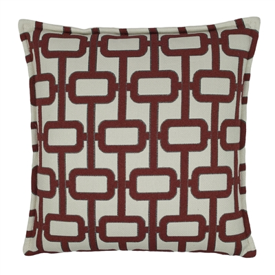 Sherry Kline Newport Red 20-inch Decorative Pillow