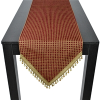 Sherry Kline Checkered Beads Red Table Runner
