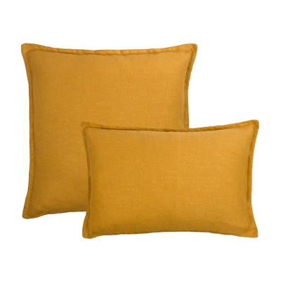 Sherry Kline Frisco Linen Amber Reversible Combo Pillow