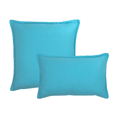 Sherry Kline Frisco Linen Light Blue Reversible Combo Pillow