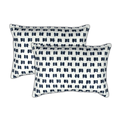 Sherry Kline O'Fifi Indigo Boudoir Decorative Pillow (set of 2)